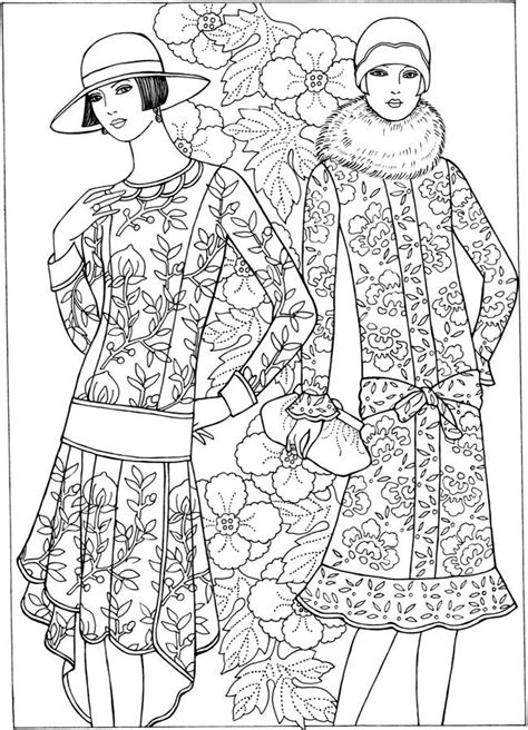 historical fashion coloring pages   print