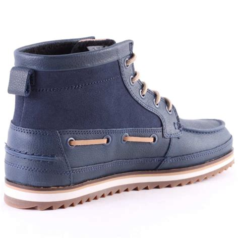 lacoste boots lacoste sauville mid 8 mens chukka boots in navy