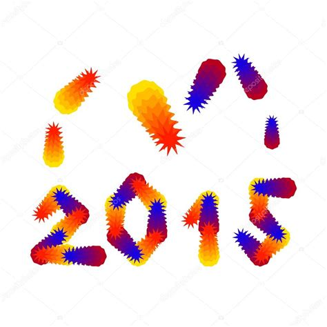 new year 2015 illustration new year 2015 congratulations card stock vector