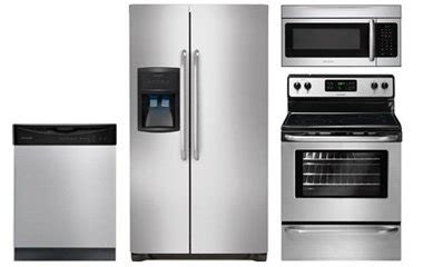 stainless kitchen appliance package frigidaire stainless steel kitchen appliance package abt com