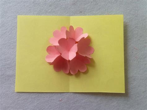 diy beautiful pop up flower card diy mother s day card diy beautiful pop up flower card diy mother s day card