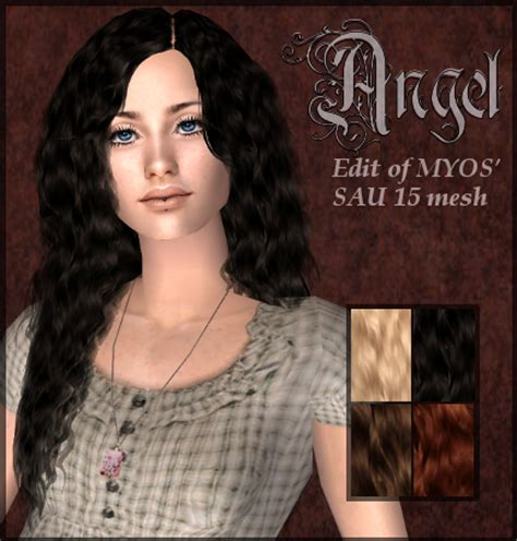 download wavy hair for sims 3 spring4sims 187 hair for females