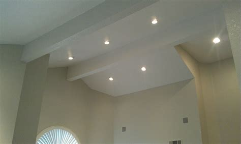 installing led recessed ceiling lights recessed lighting acoustic removal experts