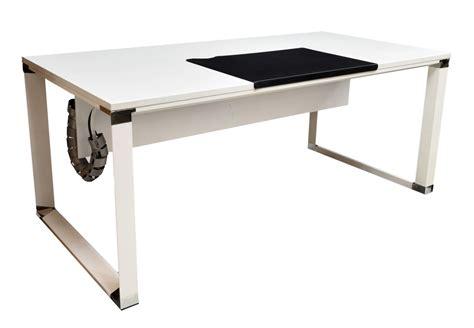 jesper office white lacquer finish executive desk august