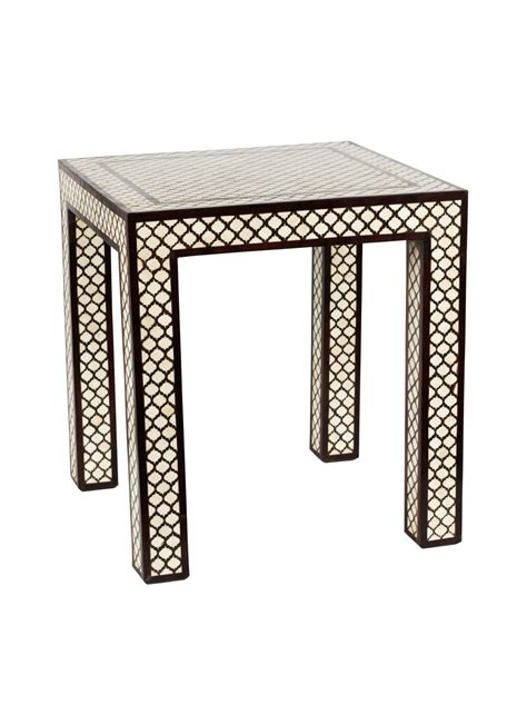 Ideas For Bone Inlay Table Design Bone Inlay Side Table Mecox Gardens