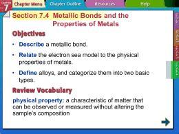 section 8 4 metallic bonds and properties of metals 07 practice metallic bonding key
