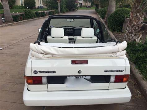 white convertible volkswagen cabriolet 1992 volkswagen cabriolet quot wolfsburg quot white for