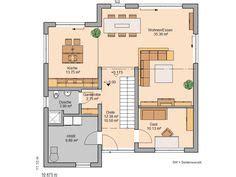 1 schlafzimmer grundrisse grundriss erdgeschoss der gro 223 e familienraum 246 ffnet sich