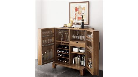 bar cabinets marin bar cabinet crate and barrel