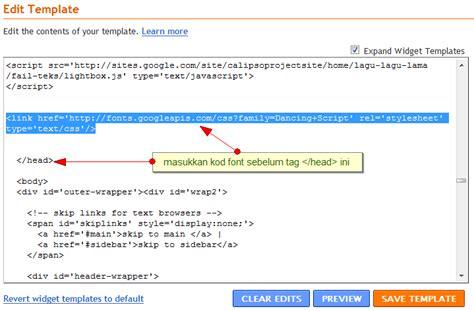 tutorial google web fonts font baru dari google web fonts tutorial blogger blogspot