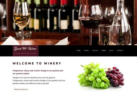 Html Template Bundle Anariel Design Free Wine Website Templates