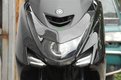 Winglet Carbon Karbon Yamaha Aerox carbon fiber headlight decoration for yamaha s max 155