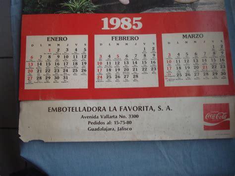 Calendario De 1985 Calendario De Coca Cola A 241 O 1985 Para Coleccionistas