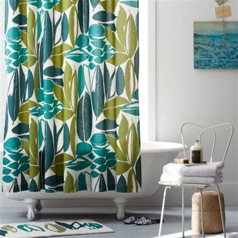 rainforest shower curtain rainforest shower curtain west elm