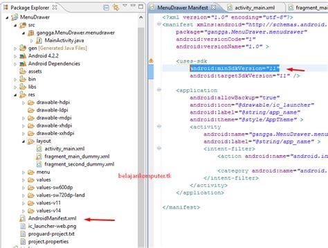cara membuat file format xml cara membuat menu tab swipe pada aplikasi android