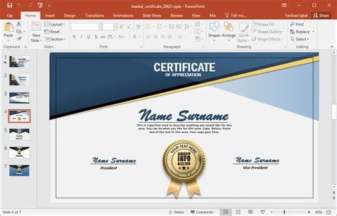 Animated Certificate Powerpoint Template Create Certificate Template