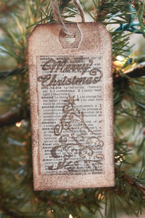 book page christmas ornament tutorial love of family