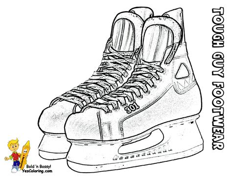 hockey skates coloring pages final step draw the body and