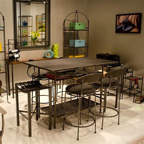 wrought iron bar table all about iron bar tables artisan crafted iron