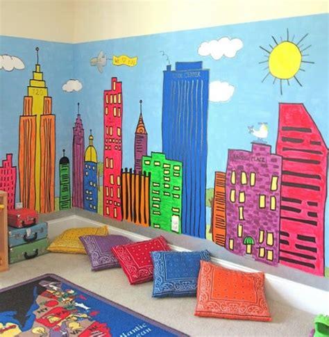 wall murals for playrooms 13 colorful playroom interiors kidsomania