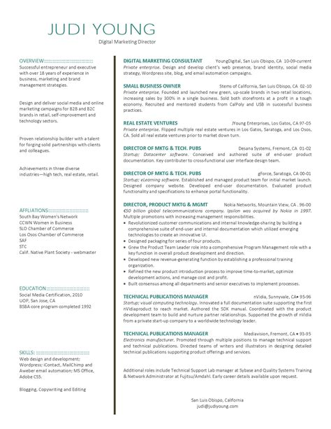 Marketing Resumes by Digital Marketing Resume Fotolip Rich Image And