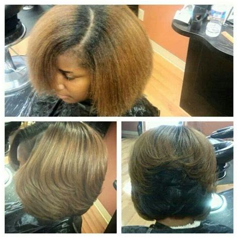 pressed short hairstyles 10 images about natural hair silk press curls on