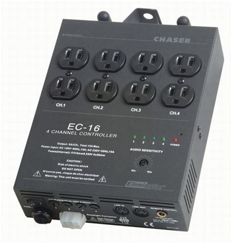 4 channel christmas light controller ec 16 4 channel light controller