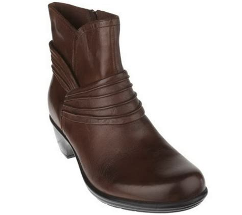 clarks bendables wish mood leather ankle boots w ruching