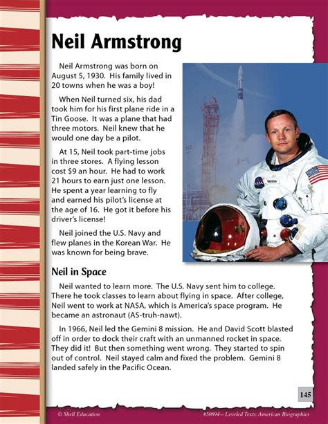 biography of neil armstrong in short read about neil amstrong in this excerpt from leveled