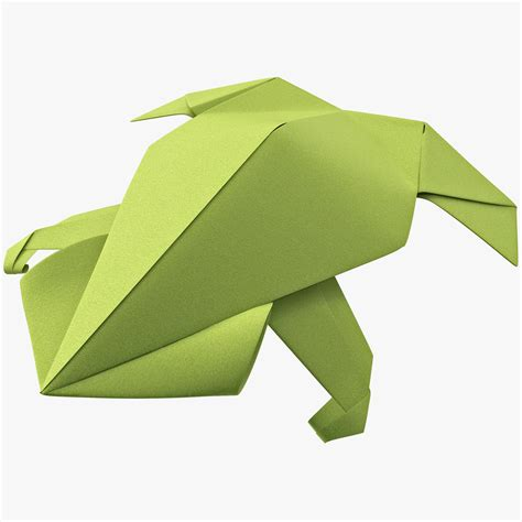 3d Origami Frog - max origami frog