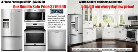 used kitchen appliances sale white shaker cabinets maytag ss appliance sale under 10k