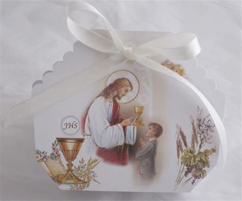 Italian Favor Box Bomboniere First Communion Confetti