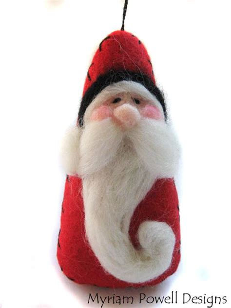 santa ornament christmas ornament needle felted santa