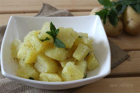 cucinare patate lesse insalata di patate lesse ricetta semplice cucina