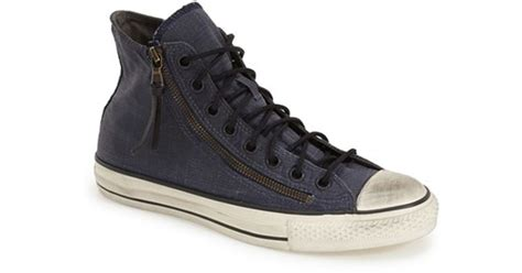 converse chuck all high top zipper sneaker in blue for lyst