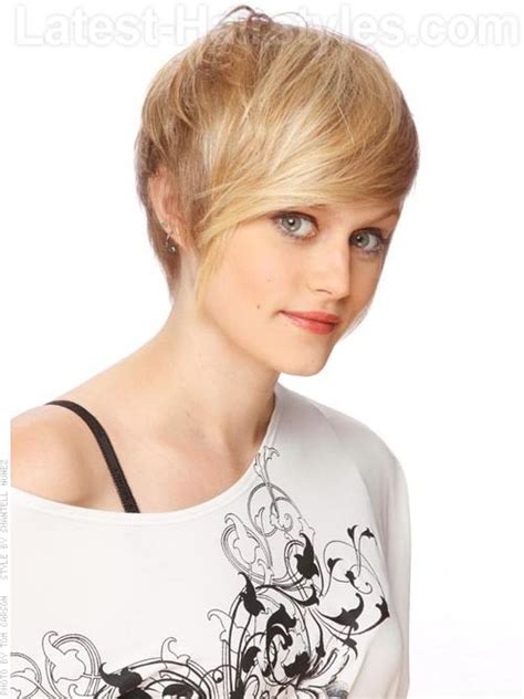 Short pixie haircut long bangs (2)   Hairstyles & Fashions