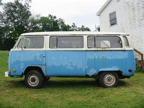 volkswagen van hippie blue find new blue 1973 volkswagen transporter microbus minibus