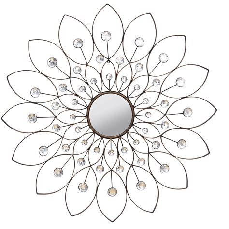 home decor flower stratton home decor decorative flower wall mirror