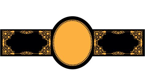 cigar band template design from template
