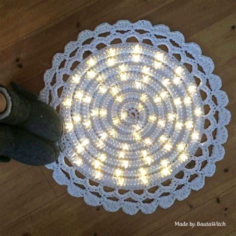 lighted crochet rug wonderful diy crochet lights rug for living room