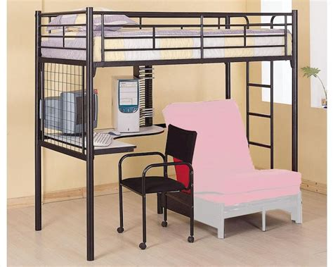 loft bed with desk and futon coaster furniture twin bunk bed w futon chair desk