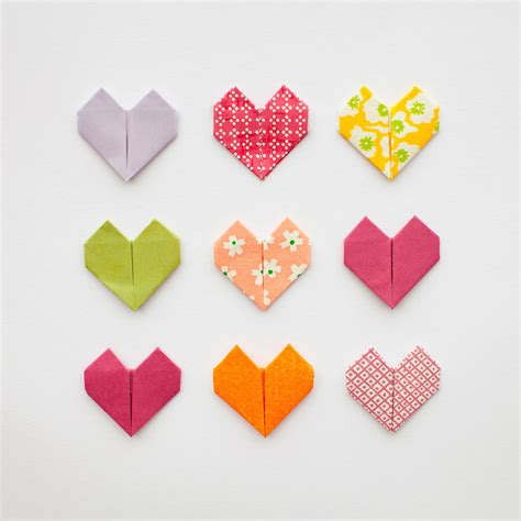 Day Origami - diy origami hearts for valentines day paperlust