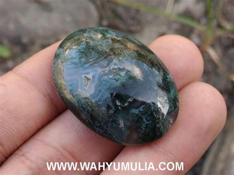 Batu Akik Badar Lumut Asli Garut Murah Batu Akik Badar Lumut Hijau Kode 411 Wahyu Mulia