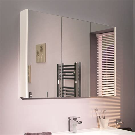3 door mirrored bathroom cabinet windsor cuba aspen 90cm 3 door white mirror cabinet