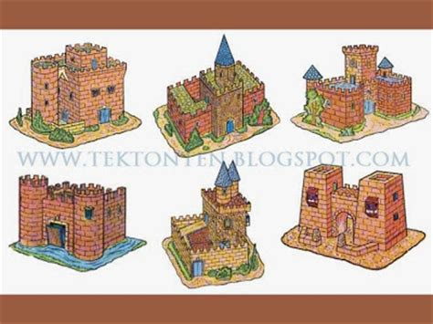 Paper Craft Castle - six vintage papercraft castles
