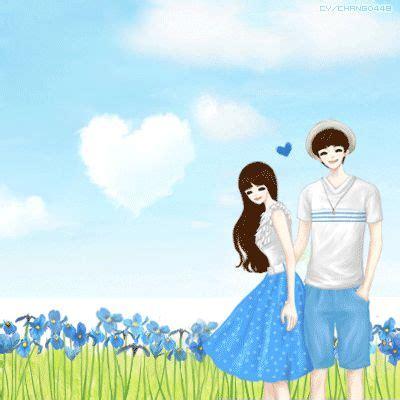 cute korean cartoon couple wallpaper www pixshark com
