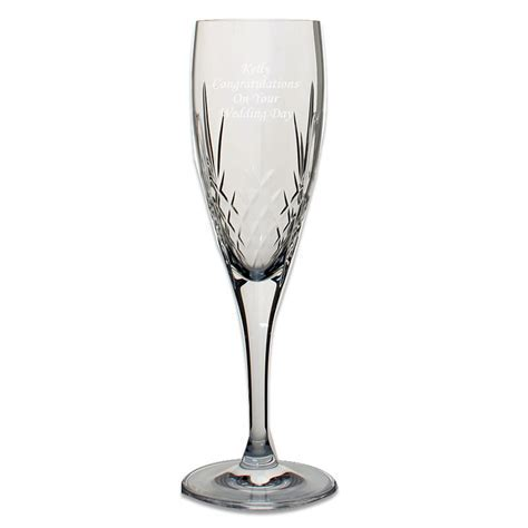 Mayfair 24% Lead Crystal Engraved Champagne Glasses