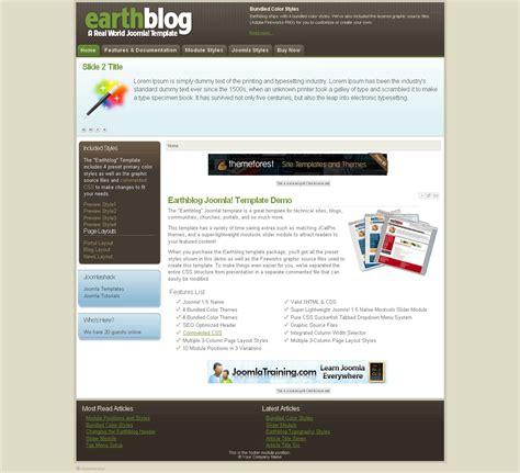 earthblog premium joomla template by joomlashack