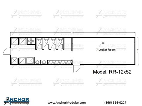 Locker Room Floor Plans | modular restroom and bathroom floor plans