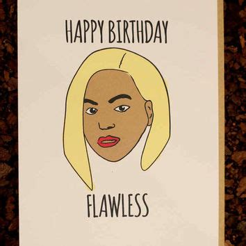 Beyonce Birthday Card beyonce birthday card flawless for from